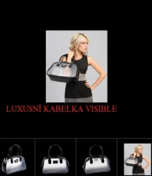 Kabelka Charmaine Visible black transparent